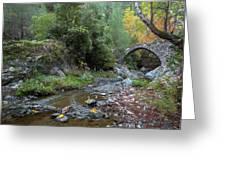 Ancient Stone Bridge Of Elia, Cyprus Greeting Card