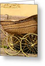 Ancient Swedish Baby Carriage Greeting Card