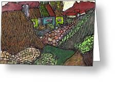 Ancient Village Greeting Card