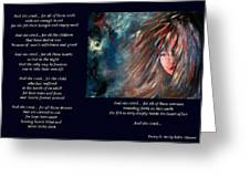 And She Cried - Poetry In Art Greeting Card