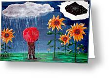And The Heavens Opened Greeting Card