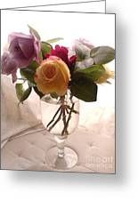 And Violet Roses Too Greeting Card