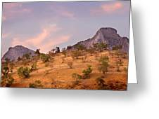 Andalucian Landscape Near Zahara De La Sierra Spain Greeting Card