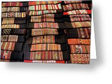 Andean Textile Market Greeting Card