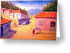 Andean Village Greeting Card