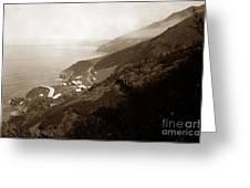 Anderson Creek Labor Camp Big Sur April 3 1931 Greeting Card