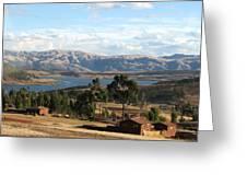 Andes Lake Greeting Card