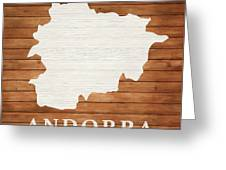 Andorra Rustic Map On Wood Greeting Card