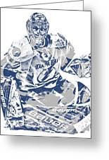 Andrei Vasilevskiy Tampa Bay Lightning Pixel Art 2 Greeting Card