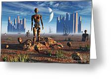 Android Fossils Preserved Greeting Card