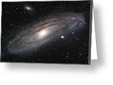 Andromeda Galaxy Lightened Greeting Card