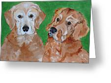 Andy And Max Greeting Card