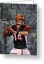 Andy Dalton Cincinnati Bengals Blocks Greeting Card