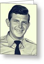 Andy Griffith, Vintage Actor Greeting Card