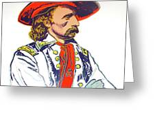Andy Warhol, General Custer, Cowboys And Indians Series Greeting Card