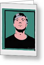 Andy Warhol Self Portrait 1964 On Green - High Quality - Stamp Edition 2012 Greeting Card