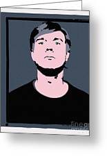Andy Warhol Self Portrait 1964 On Grey - High Quality Greeting Card