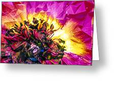 Anemone Abstracted In Fuchsia Greeting Card