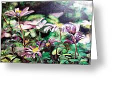 Anemones Japonaises Greeting Card