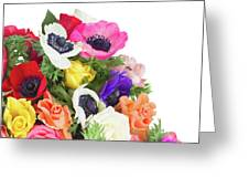 Bouquet Of Anemones Greeting Card