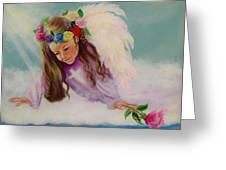 Angel Above Greeting Card