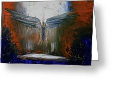 Angel Abstract  Greeting Card