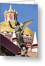 Angel And Cathedral Greeting Card