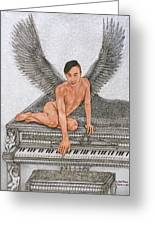 Angel And The Piano Greeting Card
