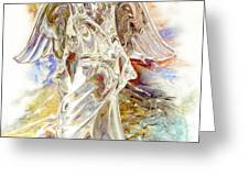 Angel At The Cross Greeting Card