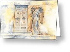 Angel At The Gate Greeting Card by David Evans