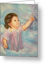 Angel Baby Greeting Card by Joni McPherson