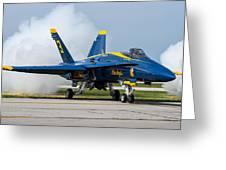 Angel Blue Greeting Card