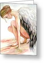 Angel Bowed Greeting Card