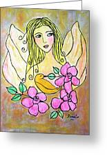 Angel-face Greeting Card