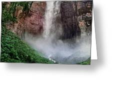 Angel Falls Canaima National Park Venezuela Greeting Card by Dave Welling