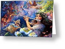 Angel Flute Greeting Card