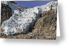 Angel Glacier Greeting Card