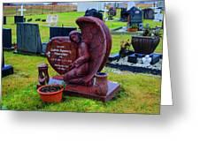 Angel Guarding Grave Hvalsneskirkja Graveyard Iceland Greeting Card