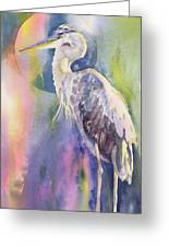 Angel Heron Greeting Card