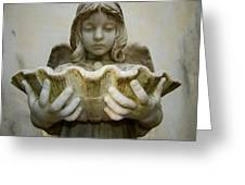 Angel Holding Shell Greeting Card