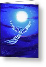 Angel In Blue Starlight Greeting Card