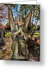 Angel In Prayer Greeting Card