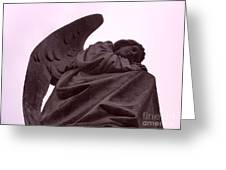 Angel In Repose Greeting Card by Cynthia Marcopulos