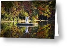 Angel In The Lake - St. Mary's Ambler Greeting Card