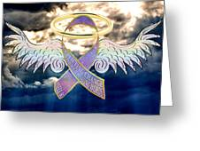 Angel In The Sky Greeting Card