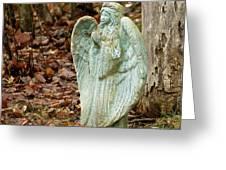 Angel In The Woods Greeting Card by Danielle Allard