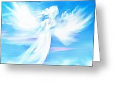 Angel In Thick Paint Greeting Card