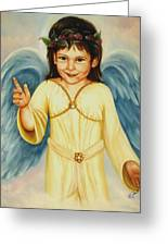 Angel In Yellow Greeting Card