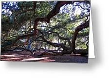 Angel Oak Side View Greeting Card