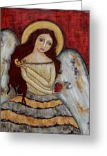 Angel Of Kindness Greeting Card by Rain Ririn